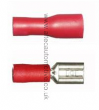 RED PRE-INSULATED female spade terminal 4.8mm
